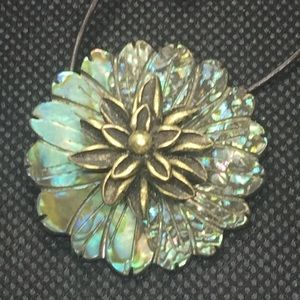 Abalone Pendant for Choker or Cord Necklace